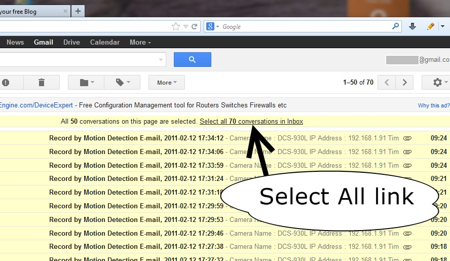 how to delete old mails in gmail