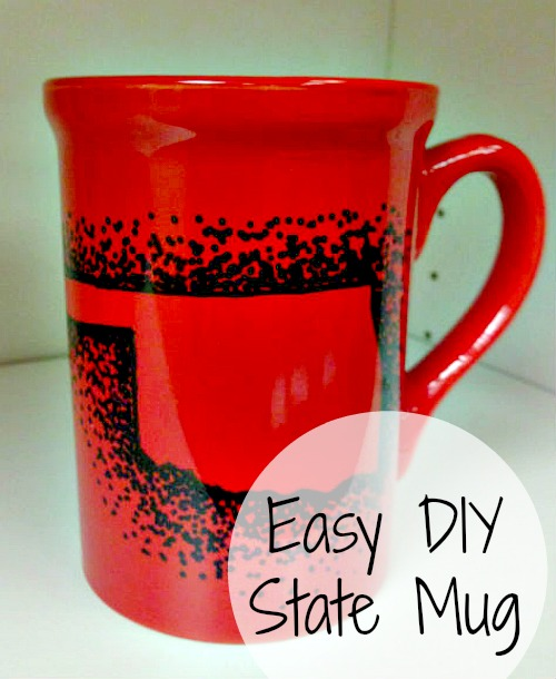 easy diy state mug, sharpie project