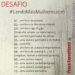 #LendoMaisMulheres2016