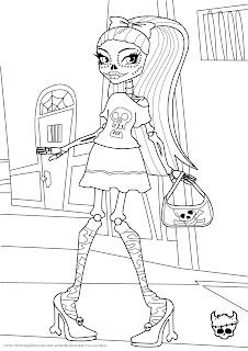 Monster High Skelita Calaveras Coloring Page