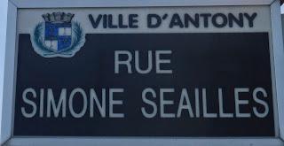 Rue Simone Séailles à Antony