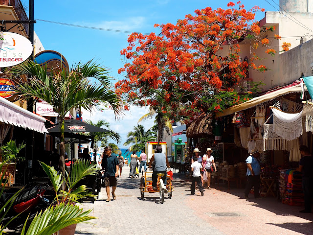 The streets of Playa del Carmen, Mexico
