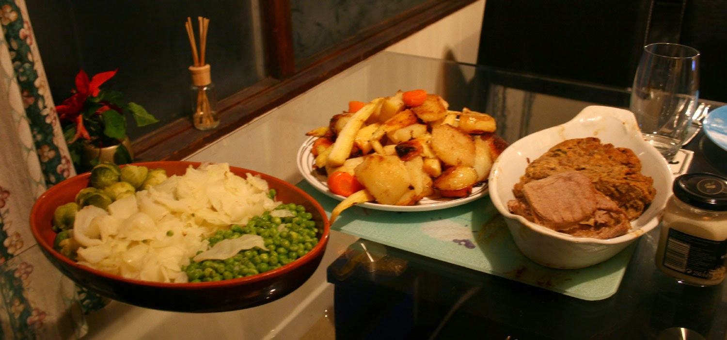 Christmas dinner; just a bit of food for two