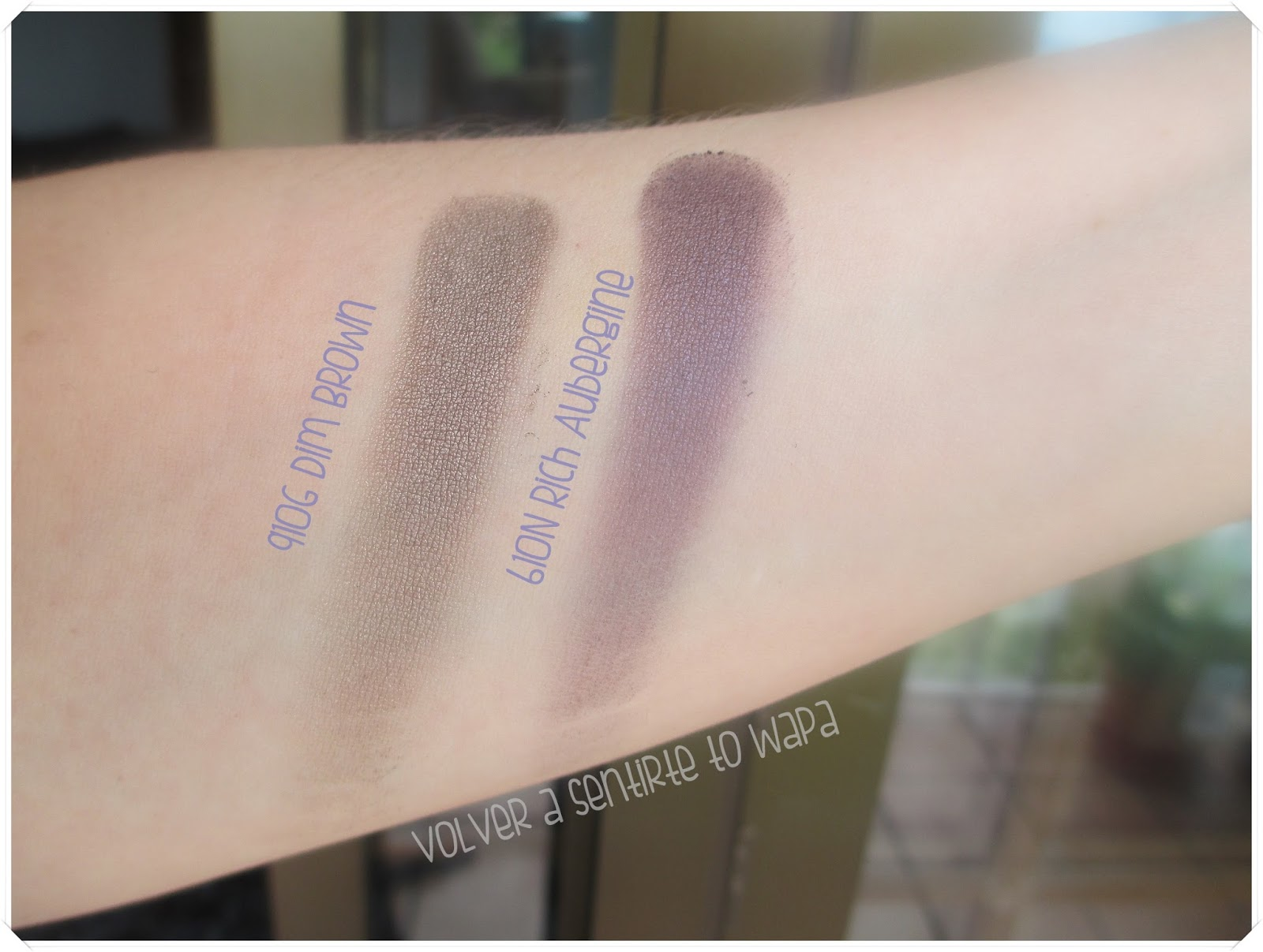 Manhattan Intense Effect Eyeshadow {swatches}