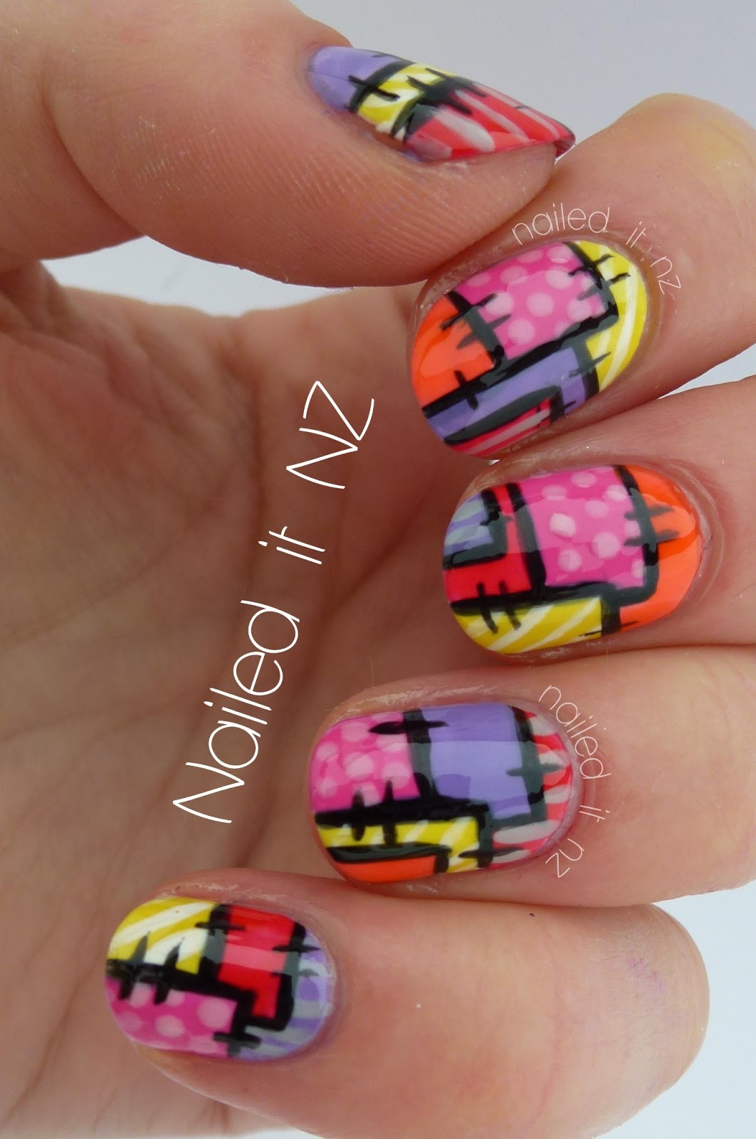 Patchwork Nail Art Tutorial