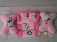 Bantal Mobil 3 in 1 Hello Kitty
