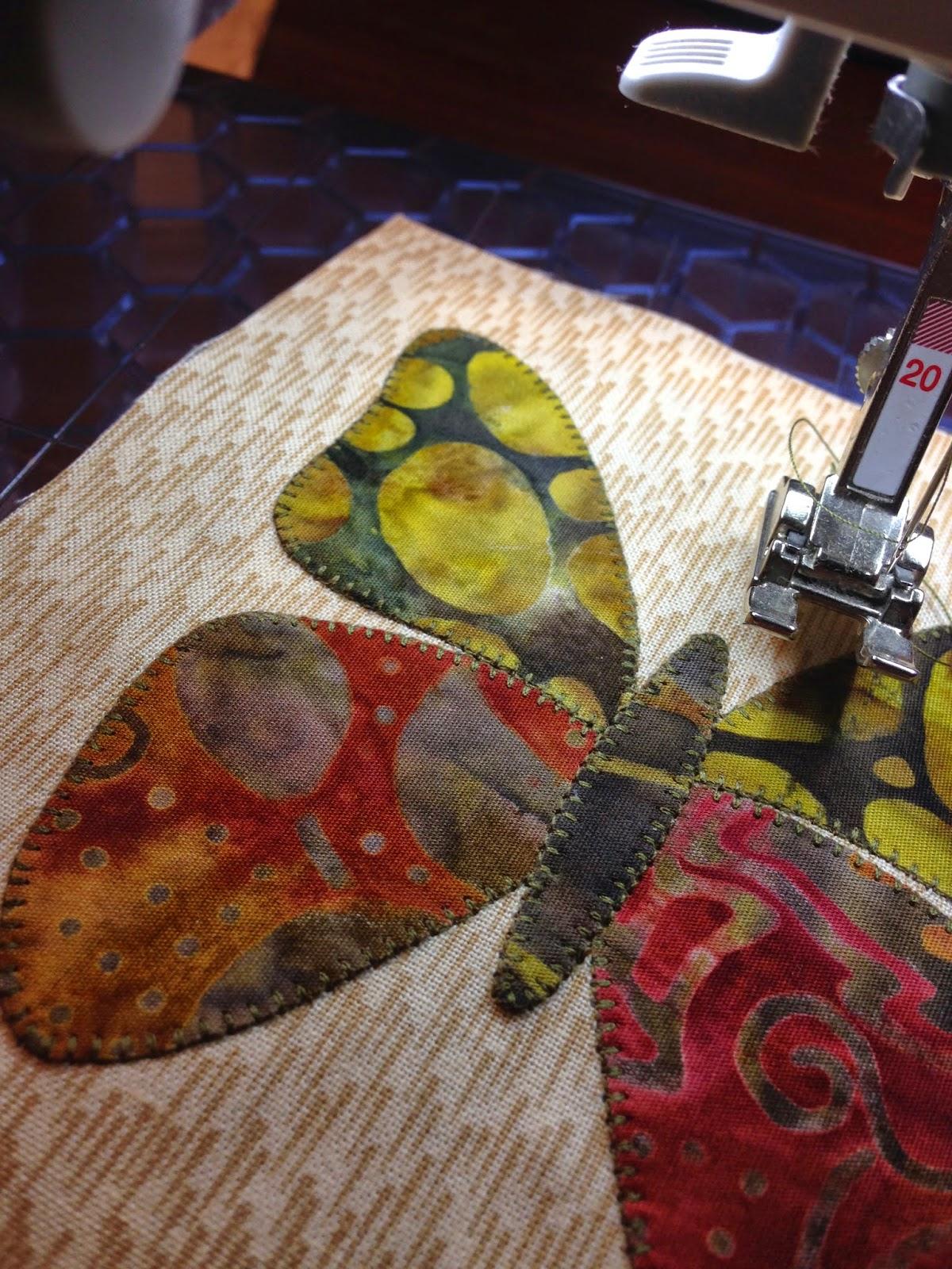 De quilthoeve we gaan appliqueren op de naaimachine for Quilt maken met naaimachine