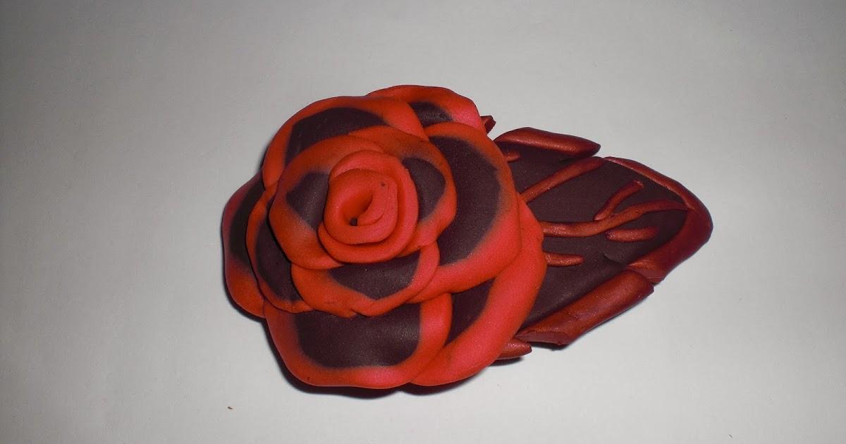 Broche Fimo Rosa Grande