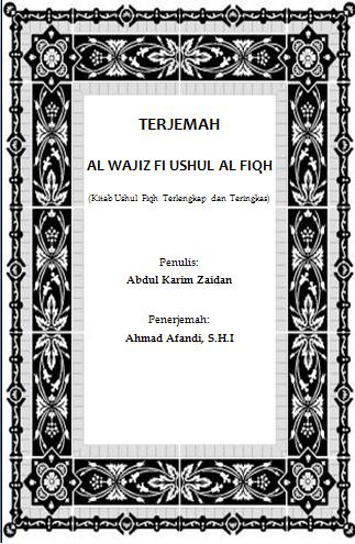Kitab Ushul Fiqih Terjemahan Pdf 23 High Quality terjemah