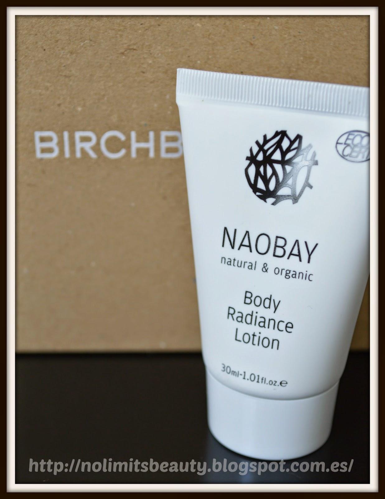 BirchBox Abril 2014 - Body Radiance Lotion de Naobay