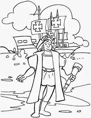 columbus day coloring pages for kids best holiday pictures