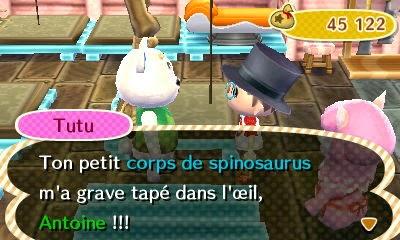 Un screenshot du jeu Animal Crossing.