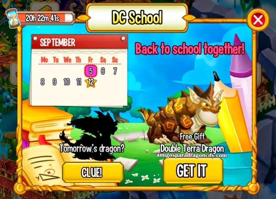imagen del dragon tierra doble de la isla escuela de dragon city mobile