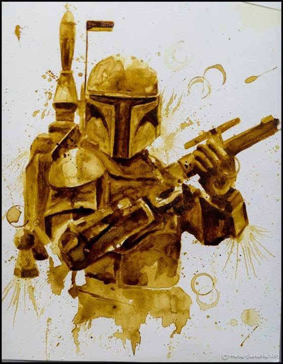 08-Boba-Fett-Star-Wars-Maria-A-Aristidou-Pop-Culture-Painted-with-Coffee-www-designstack-co