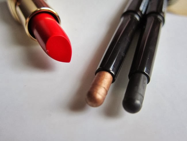 Bobbi Brown Old Hollywood Lipstick and Longwear Cream Shadow Sticks in Bronze and Tuxedo Black