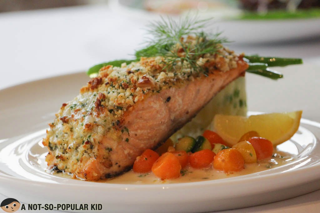 Pan Seared Macadamia Crusted Salmon by Nostalgia in Oakwood
