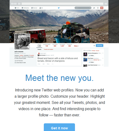 Give Your Profile a Makeover on twitter