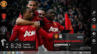Theme Manchester United 2013 Untuk Windows 8