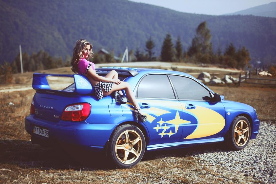 Subaru Impreza WRX STi GD, sportowy sedan, japońskie samochody, kobieta i auto, zdjęcia, fotki