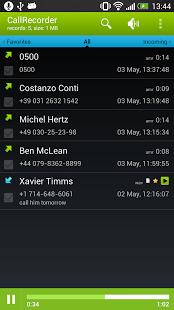Call Recorder app screenshoot