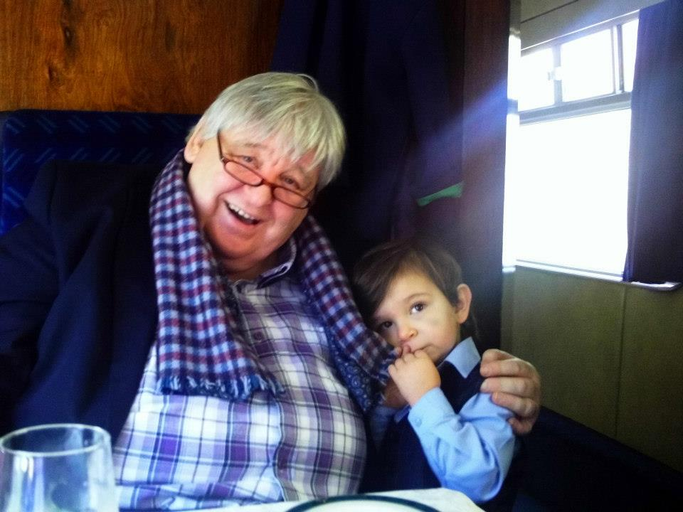 BRIAN AND ONE OF HIS THIRTEEN GRANDCHILDREN