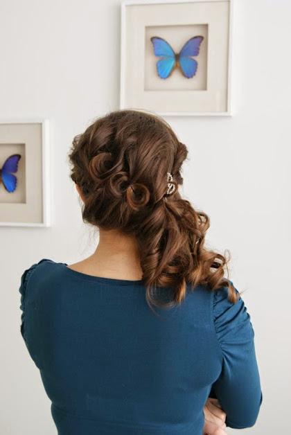 fryzura ślubna 50