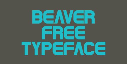 Beaver free font