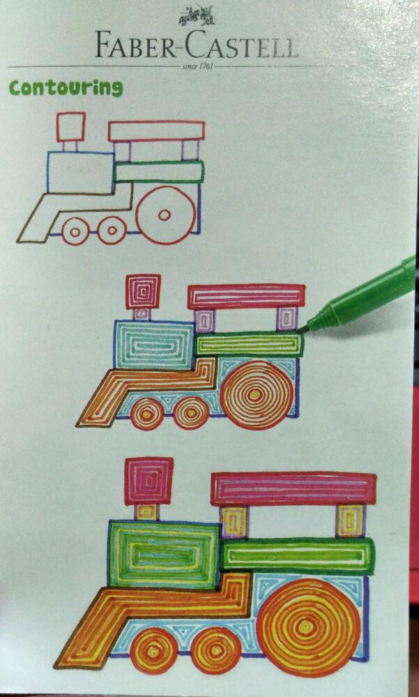 Mewarnai Gambar Doodle dengan Contouring