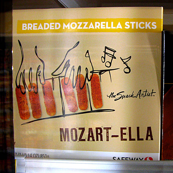 Musical Terms in the Marketplace - Mozart-Ella Breaded Mozzarella Sticks by the Snack Artist