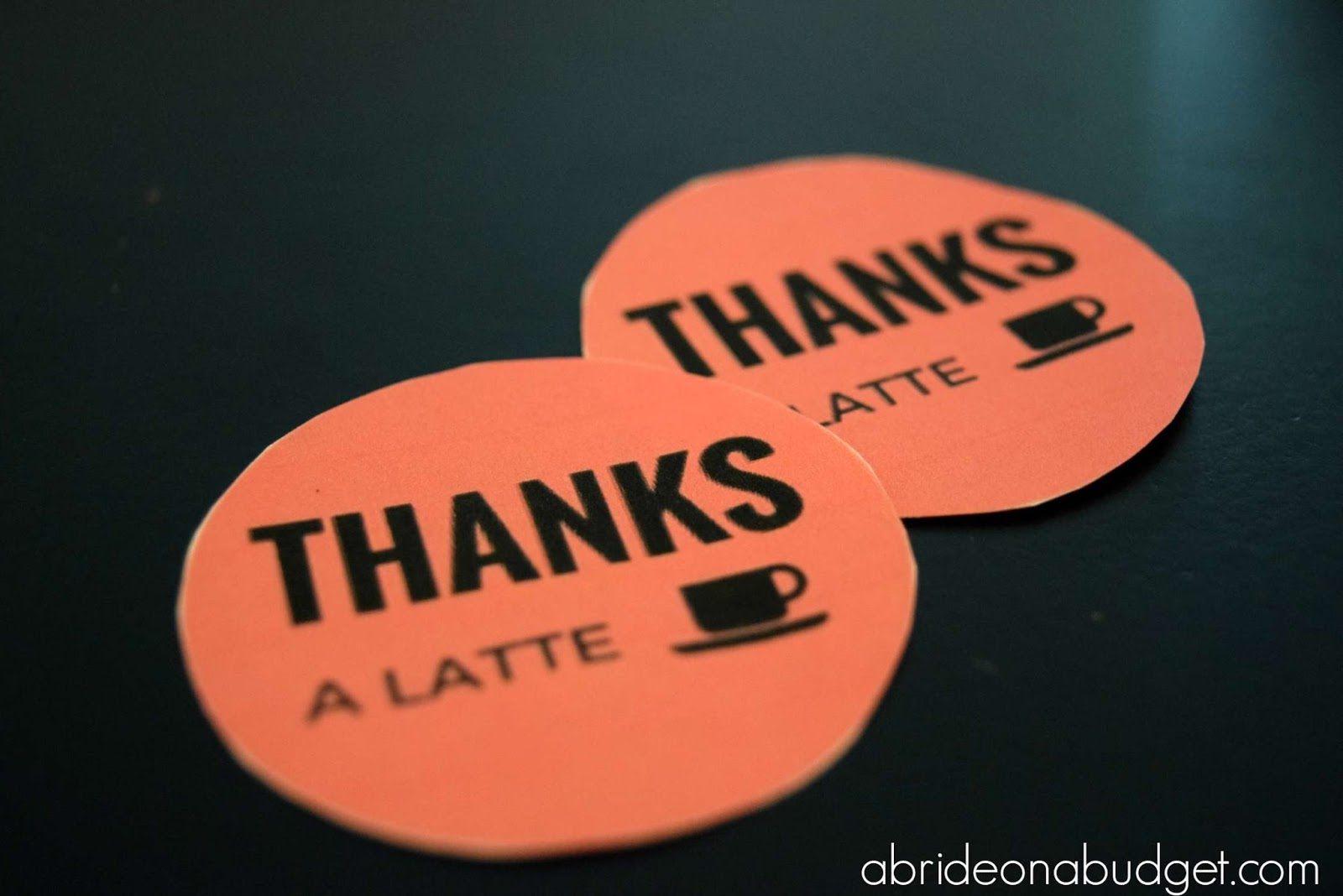 Diy Thanks A Latte Coffee Wedding Favor And A Free Printable A