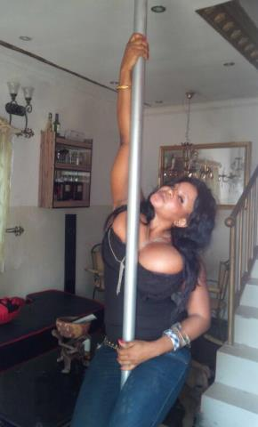 Cossy on A striper Pole for the Person that Broke her Heart