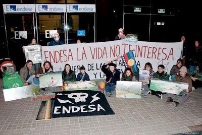 Mapuche gulumapu manifestaciones chile sin represas por m s conciencia respeto y defensa - Oficinas de endesa en barcelona ...