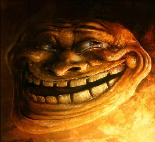 One hundred thousand posts!! - Page 4 Sam+spratt+troll+face+art+painting+meme+online+internet+character+troll