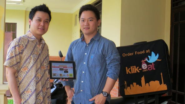 Michael Saputra, Andrew Pangestan Founder Klik-Eat  Indonesia