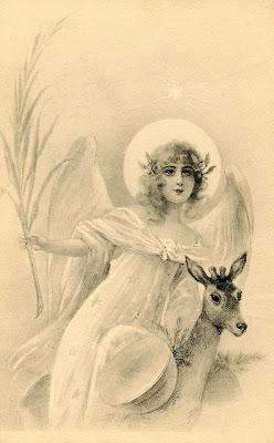 Free Holiday изображение ангела Deer