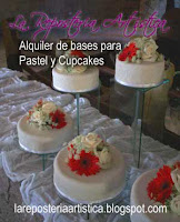 alquiler bases torre para cupcake pastel guate