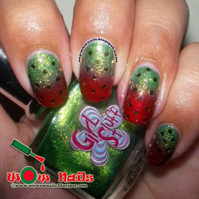 Wow Nails Notd My First Ever Christmas Themed Nail Art
