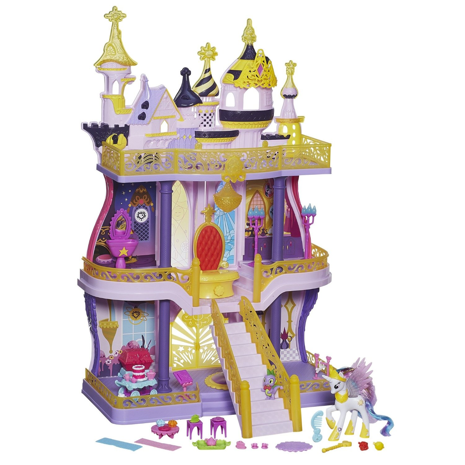 Best Castle Toys For Kids : Canterlot castle playset available on french amazon mlp