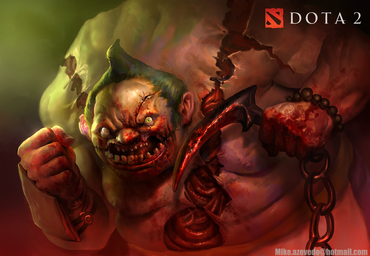 Dota 2 Wallpapers Fan Art Pudge By Pklklmike