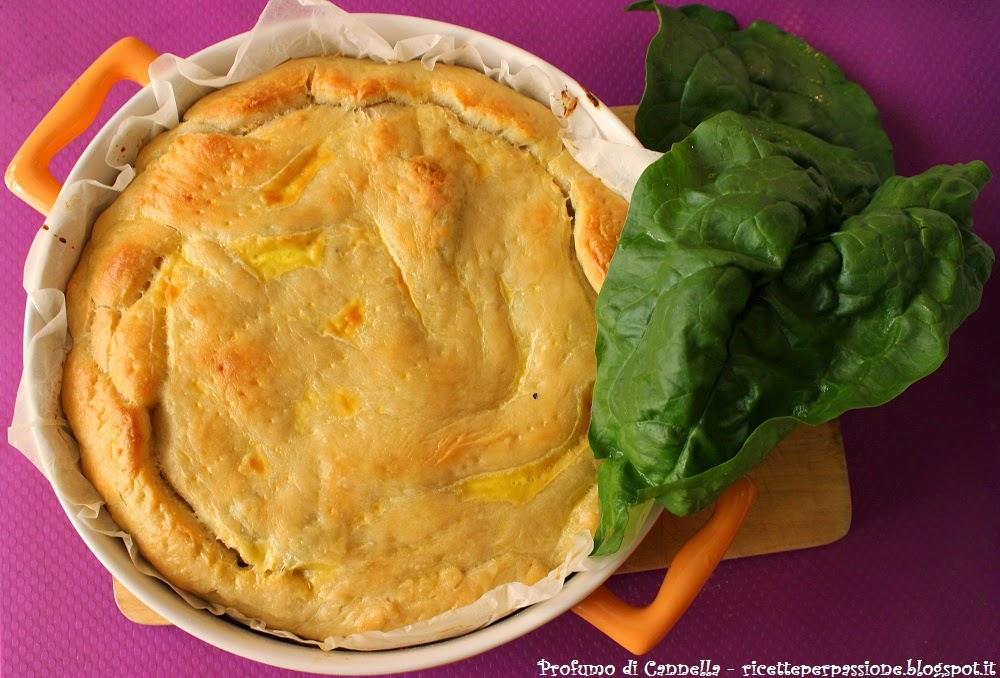 torta rustica lievitata con ripieno di ricotta e spinaci freschi - auguri mamma!