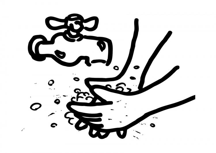 Findy 39 s toys handen wassen moet je leren - Coloriage lavage des mains ...