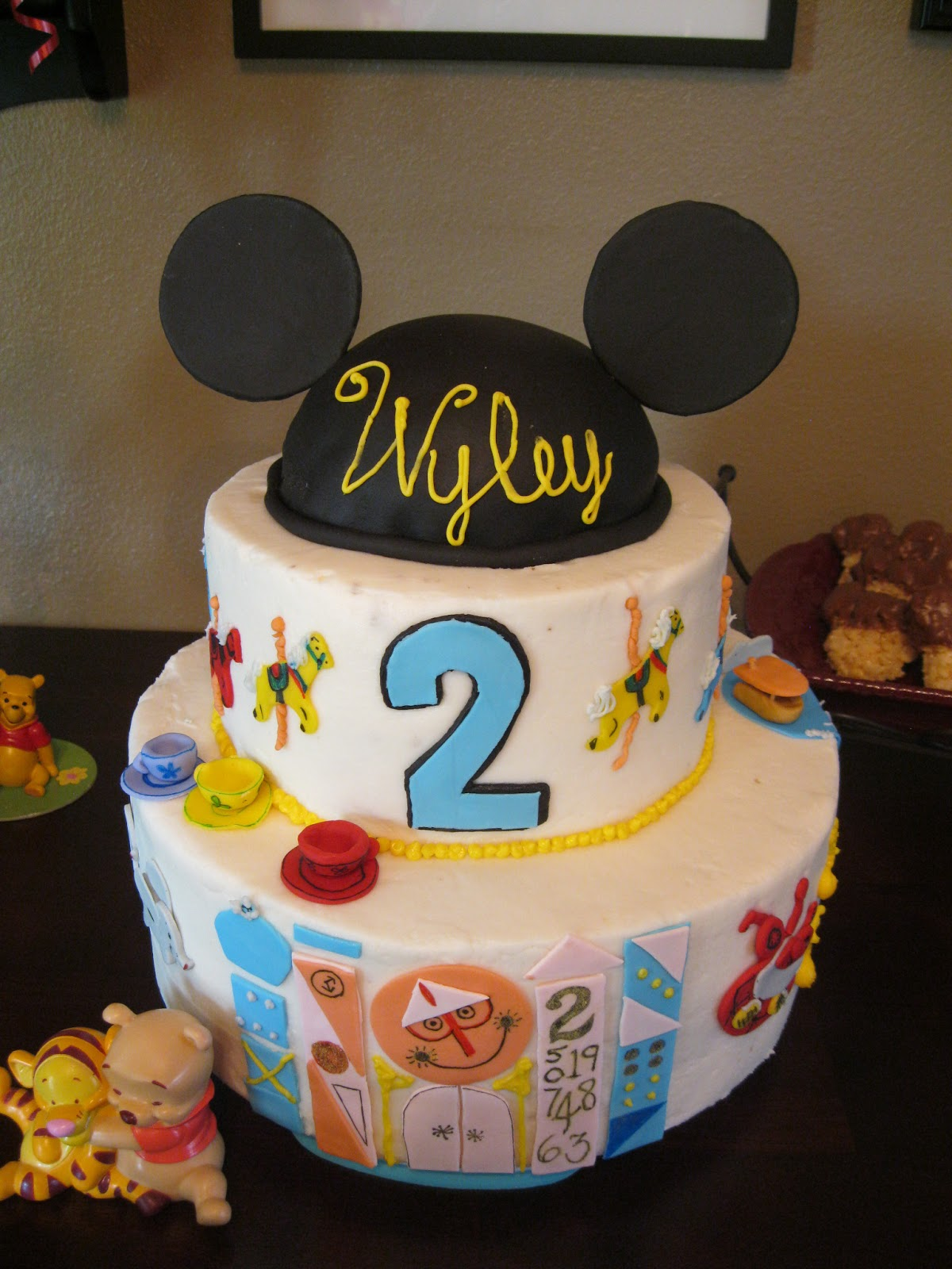 Cakes Crafts And Kylie Disneyland Themed Birthday Party