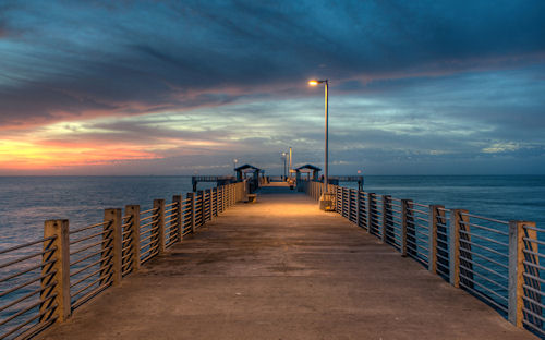 Pier twilight by Glenn Nagel