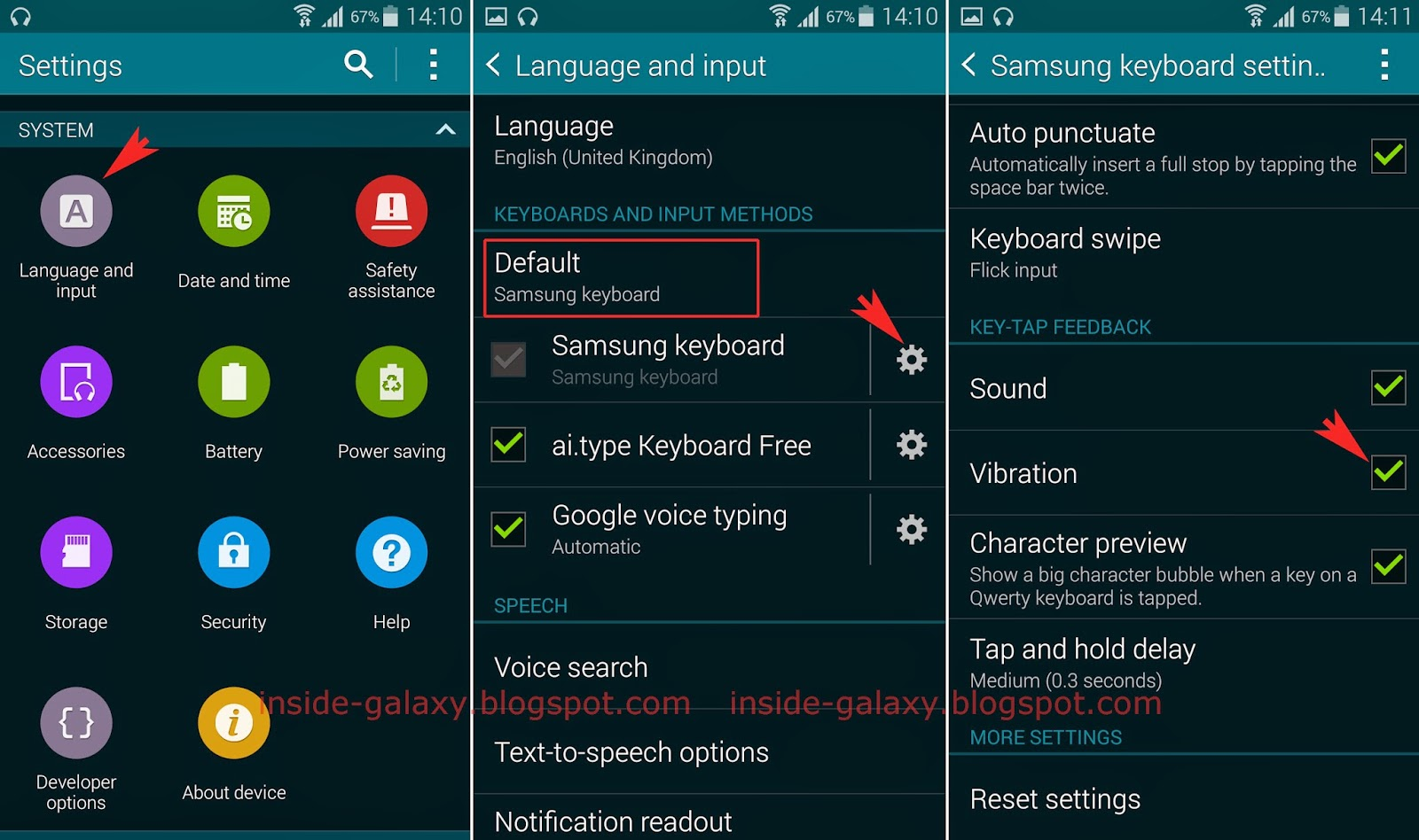 Method #1: From the Samsung keyboard settings