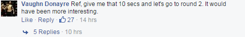Vaughn Donayre vs. Peter Davis FB comment ONE FC 21