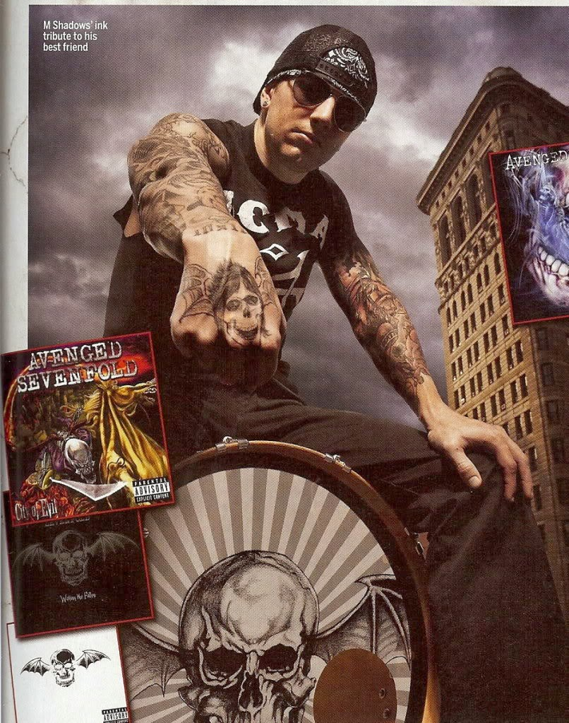 M Shadows Tattoos Four Horsemen Four Horsemen Tattoos