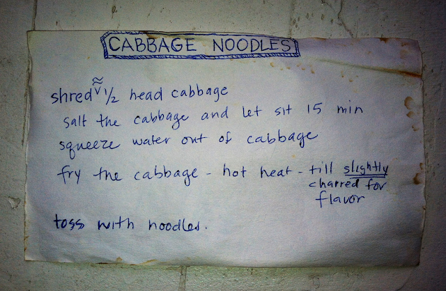 © 2013 Amber Schley Iragui, cabbage noodles recipe