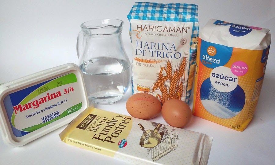 ingredientes coulant de chocolate blanco