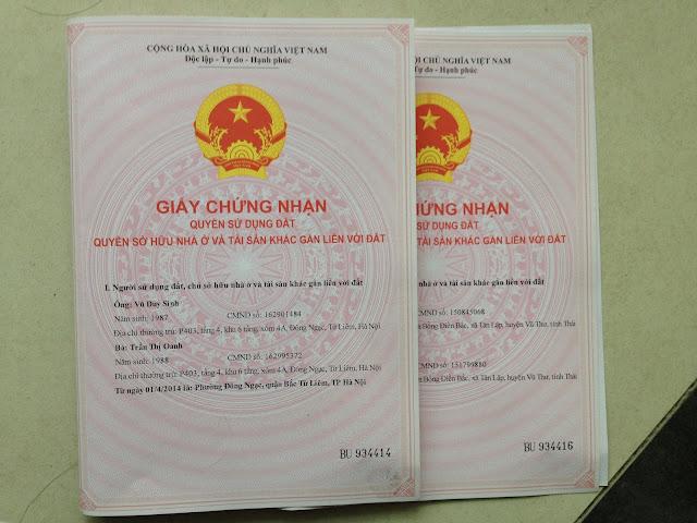 Sổ đỏ tách riêng của các căn hộ chung cư mini bên Chủ Đầu Tư HANOILAND