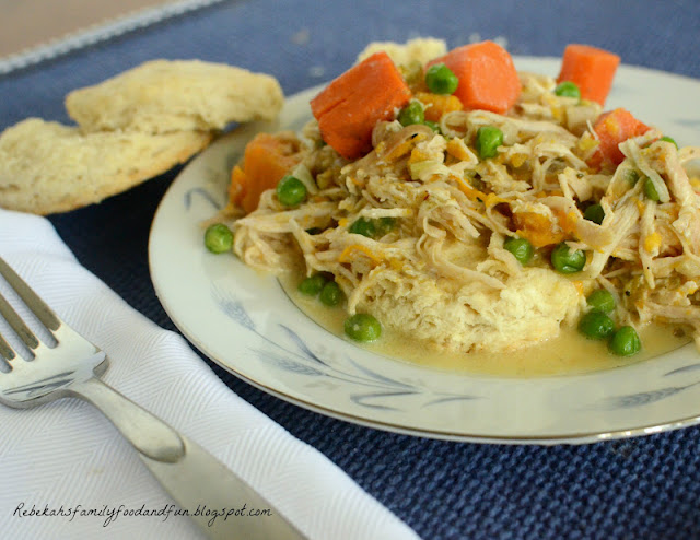 Family, Food, and Fun: Creamy Slow Cooker Chicken and Biscuits - SRC